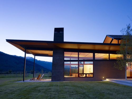 The stunning Peaks View home in Wilson, Wyoming