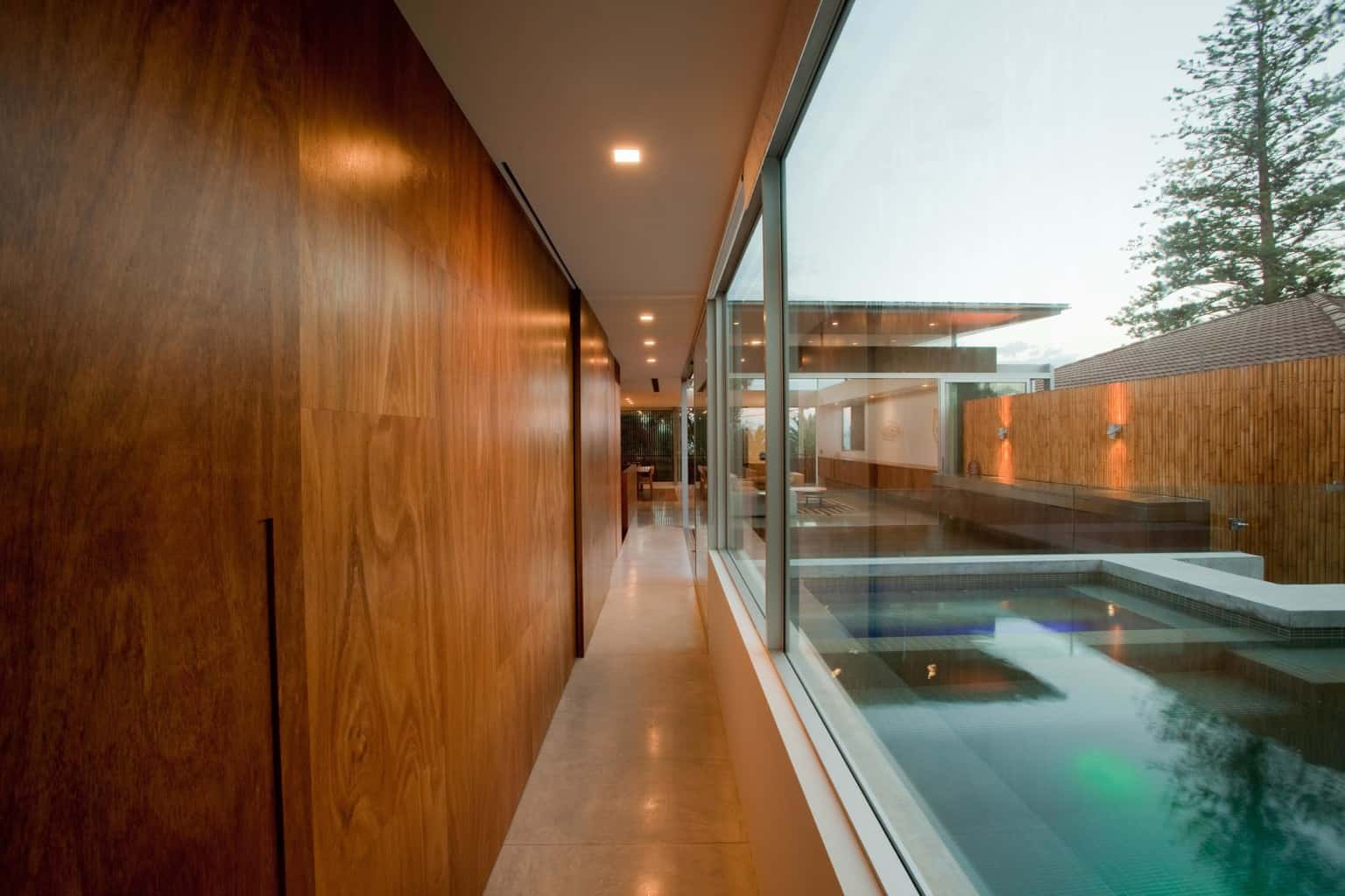 Pool with modern asian design, modern asian architecture, Virginia Kerridge, White Rock