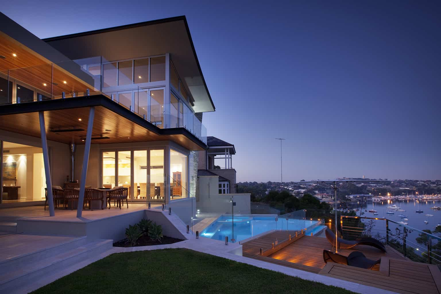Spectacular riverside landscape design in Perth
