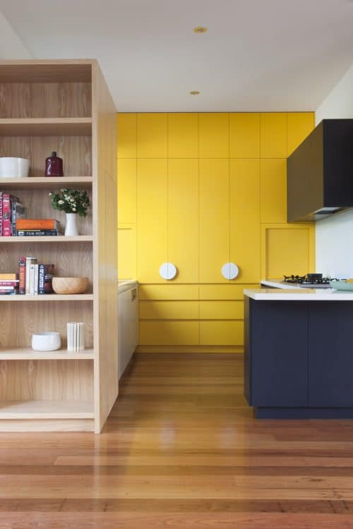 Kitchen design with a splash of yellow