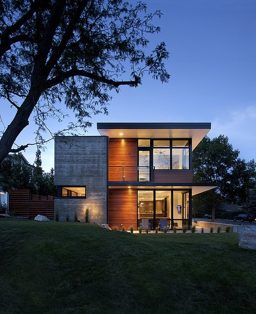A modern family home for racing bike enthusiasts