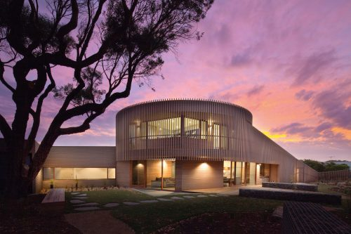 Circular sculptured architecture for Barwon Heads