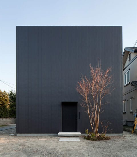 Japanese architecture with warm minimalism