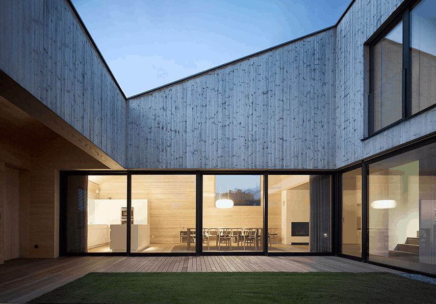 Central courtyard design in Austria