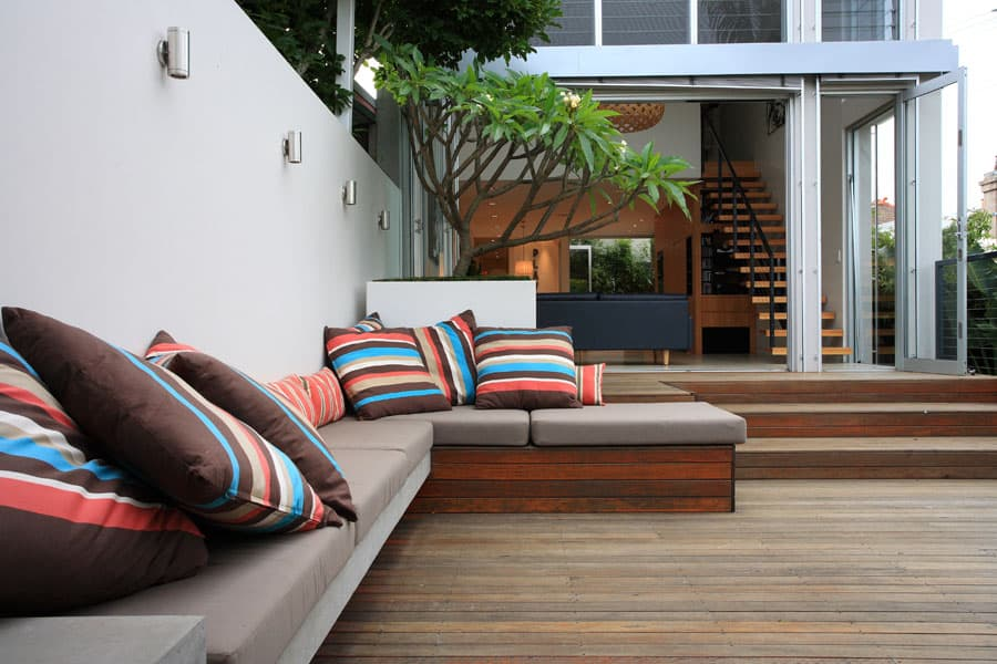modern courtyard garden design in randwick
