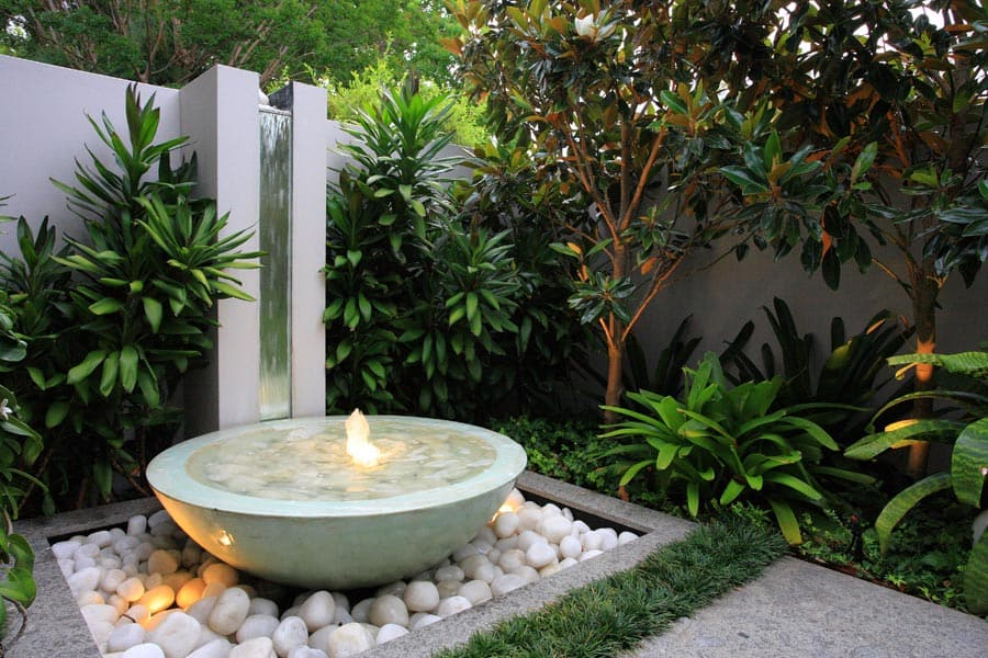 modern courtyard garden in randwick